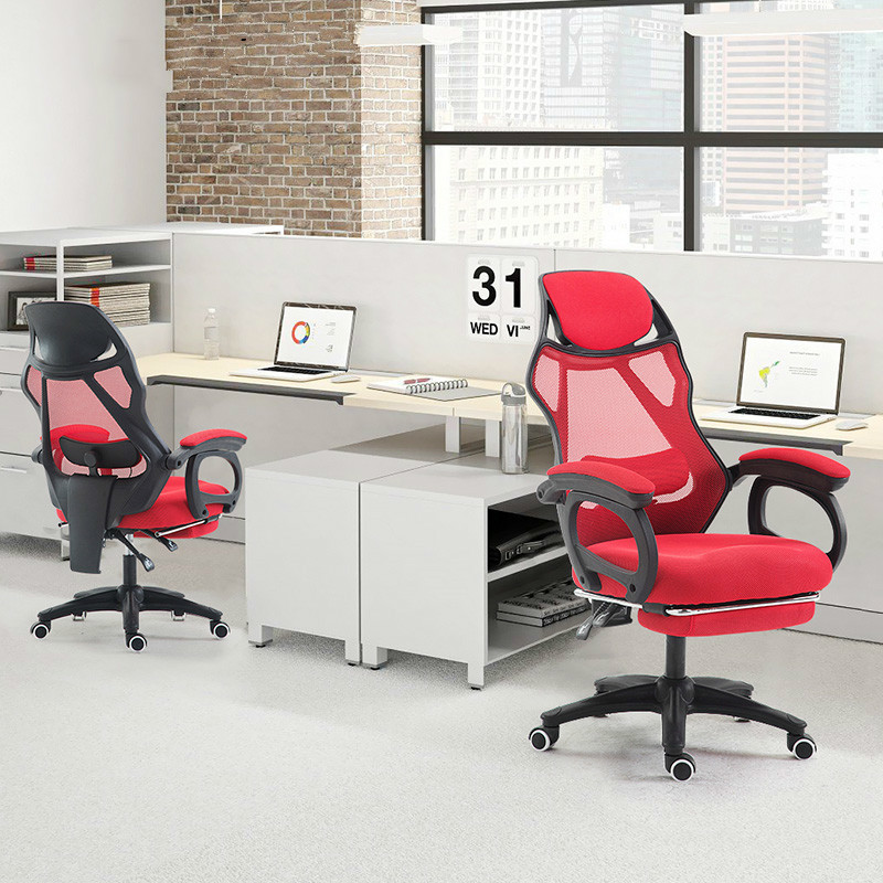 Купить с кэшбэком Simple Modern Office Chair Home Mesh Leisure Massage Computer Chair Ergonomic Swivel Boss Chair Seat With Footrest