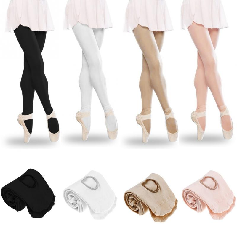1PC Ballet Dance Legging Women Full Foot Velvet Leggings Girl Seamless Dancing Ballerina Legging White,black,skin Color,pink#137
