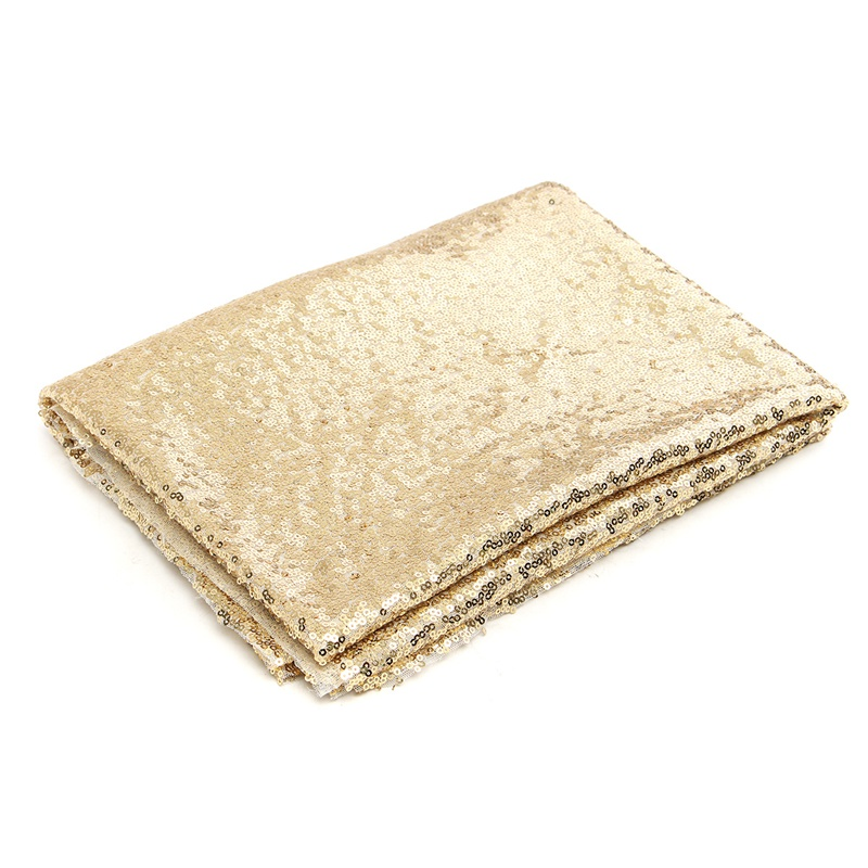 KiWarm Durable 4FT*6FT Champagne Gold Sequin Fabric Photo Backdrop Wedding Photography Background Decor Cloth DIY Craft Material 4