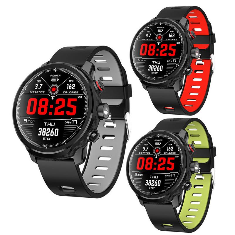 New Smart Watch Long-lasting Battery IP68 Waterproof Smart Bracelet For Android IOS Full-screen Touch LED Lighting Health