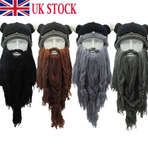 Detail Feedback Questions about Knit Viking Beard Horn Hat Crazy Ski Cap  Barbarian Vagabond Beanie Halloween UK on Aliexpress.com  9e9287d332e
