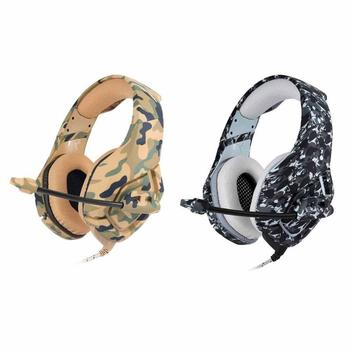 ALLOYSEED K1 Camouflage Stereo Gaming Headset 3.5mm Jack 1.2m Wired Game Headphones With Mic For PC Mobile Phone Xbox One PS4