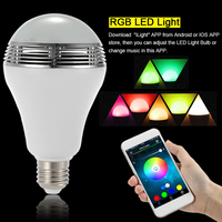 E27 10W wireless bluetooth speaker smart RGBW colorful bulb music playing dimmable intelligent color changeable led bulb lamp