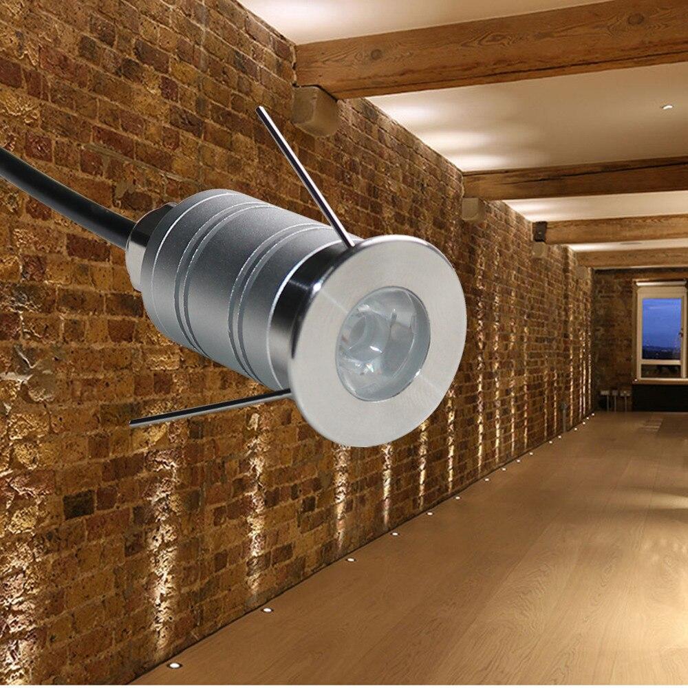 1W LED Deck Light Underground Lamps Buried Lighting IP67 DC12V Garden Landscape Pathway Lighting CE RoHS