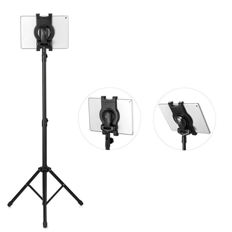 High Quality Foldable Tablet Floor Stand Tablet Tripod Mount Holder Bracket Clip Accessories for 7-10'' Tablet PC For Ipad