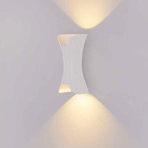 Современный настенный светильник IP65 Открытый водонепроницаемый 12 Вт 24 Вт светодиодный настенный светильник для гостиной прохода парка Лан...