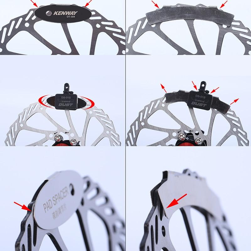 MTB Disc Brake Pads Adjusting Tool Bicycle Pads Mounting Assistant  Brake Pads Rotor Alignment Tools Spacer Bike Repair Kit 6