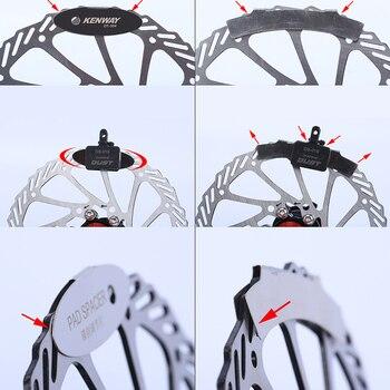 MTB Disc Brake Pads Adjusting Tool Bicycle Pads Mounting Assistant  Brake Pads Rotor Alignment Tools Spacer Bike Repair Kit 11