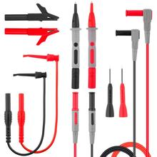 1000v 10a teste eletrônico lead kit jacaré clipes extensão de teste multímetro digital pino universal cabo fio sonda