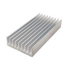 2 шт. 100x50 мм светодиодный радиатор алюминиевый сплав охлаждающая плата для Светодиодный светильник DIY теплопроводность