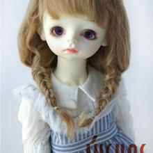 JD344 1/12 1/3 BJD мохер куклы парики Размер 4-5 дюймов 8-9 дюймов двойной рыбий кости коса BJD парики