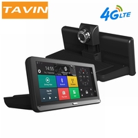 TAVIN Car DVRs 4G Android 5.1 8.0 Inch Rearview Mirror Camera GPS WIFI 1080P Video Recorder Navigation Dash Cam ADAS Dual Lens