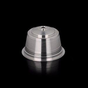 Image 4 - Capsula reusável do dripper da cápsula das cestas do filtro do gusto de dolce do aço inoxidável para o copo recarregável da vagem de dolce gusto do metal