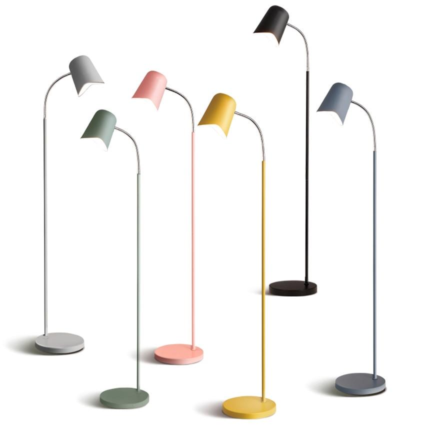 Post modern Led Light Floor Iron Floor Lamp Fixtures Living Room Bedroom Study Desk Standing Lamp Luminaire Lighting in Floor Lamps from Lights Lighting