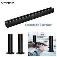 Беспроводная Bluetooth Звуковая Панель XGODY, отсоединяемая Колонка 20 Вт, колонка 2000 мАч, USB TF, Портативная колонка, звуковая панель s, домашний кино...