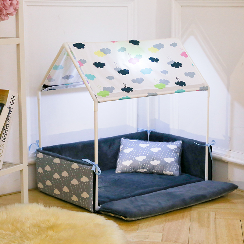 Puppy Lovely House Removable Cozy Home Dog Bed + Tent
