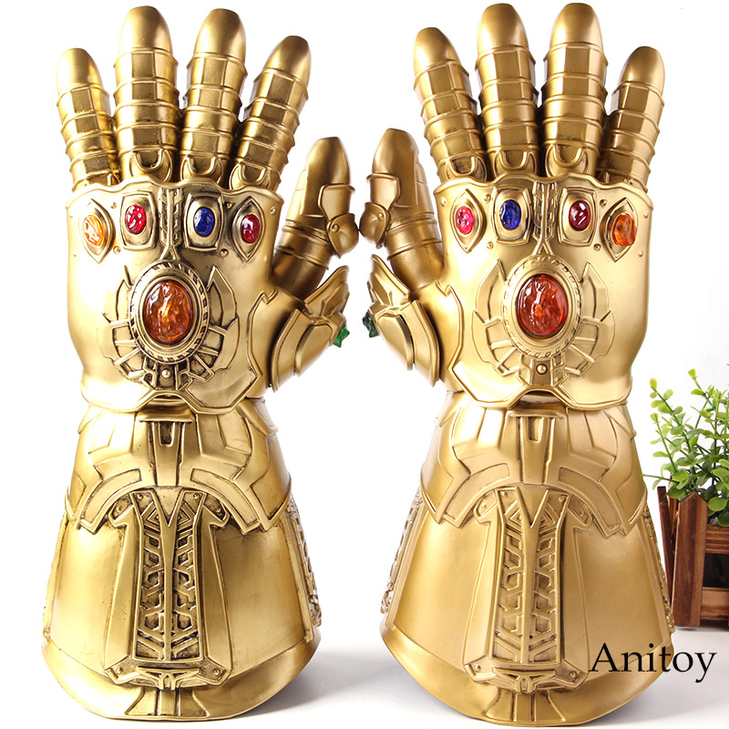 The Avengers Thanos Glove Thanos Infinity Gauntlet Glove Cosplay 1:1 with LED Light PVC Action Figure Collection Model ToysThe Avengers Thanos Glove Thanos Infinity Gauntlet Glove Cosplay 1:1 with LED Light PVC Action Figure Collection Model Toys