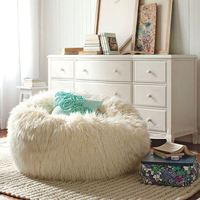 Lazy Bean Bag Sofa Plush Cover Soft Lounger Chairs seat living room furniture Without Filling Beanbag Beds lazy seat home