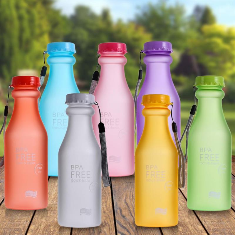 550mL Sports Water Bottle High Quality Plastic Frosted