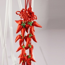 2 pcs Chinese Knot of Good Harvest Pepper Household Pendant Spring Festival Wedding Supplies Pray that the harvest