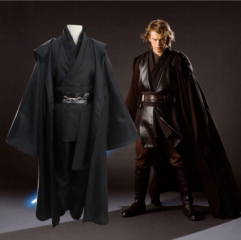 Star Wars Dark Jedi Revenge Of The Sith Anakin Skywalker Cosplay Costume Men Jedi Knight Costume Male Fancy Dress Robe