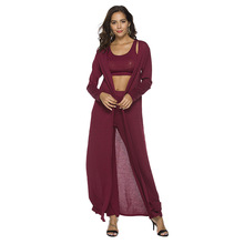 MUXU Black Cropped 3 Piece Set Women Top And Pants Clothing Suits Conjunto Feminino clothes