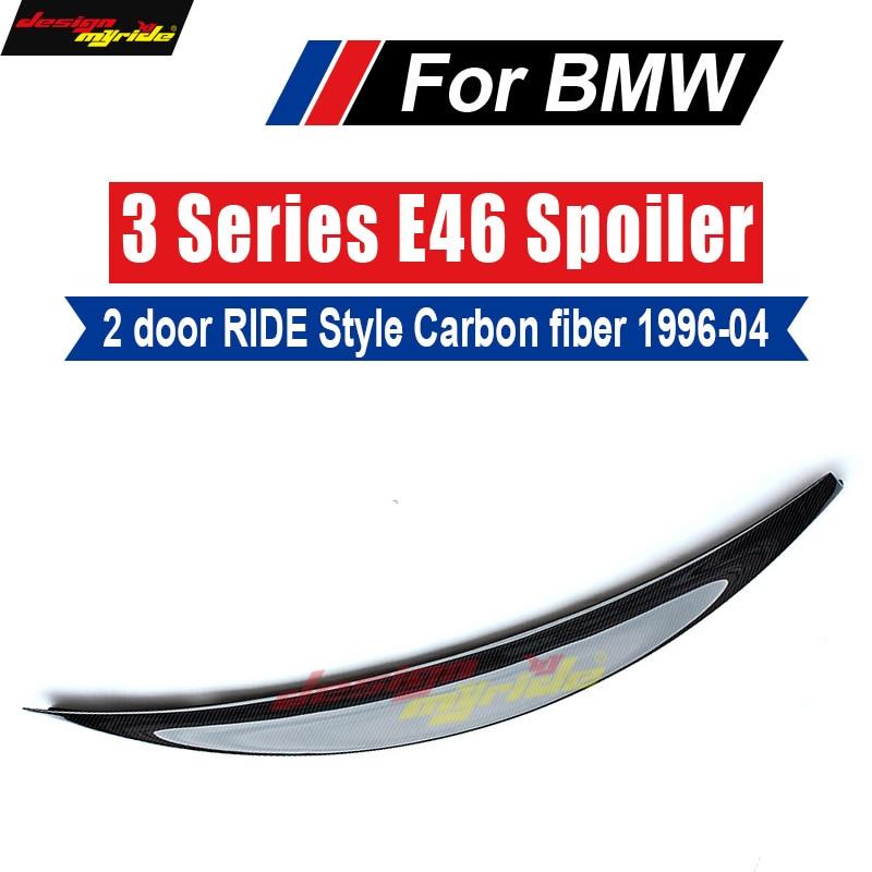 Pour BMW E46 aileron lèvre aile arrière style de roulement en fiber de carbone 318i 320i 325i 328i 330 330xi 2 porte aileron arrière lèvre aile 1996-04