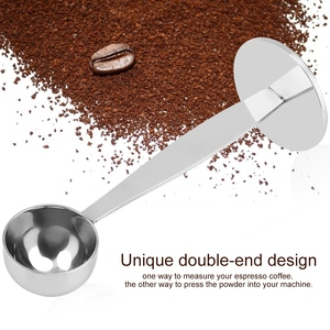 Image 3 - Cuchara en polvo de café Espresso de doble uso, herramienta medidora de café, accesorios de café de acero inoxidable