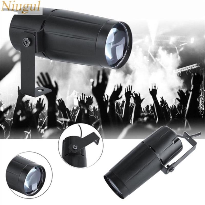 5W RGBW LED Beam Spotlight Stage Light Ball Rotating Pinspot Lamp For DJ Disco Bar KTV Party Stage Lighting Effect Spot LED Lamp