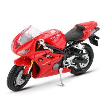 Maisto-modelo de bicicleta a Motor para niños, modelos de coche para carreras de aleación, simulación de Moorcycle 675, juguetes educativos