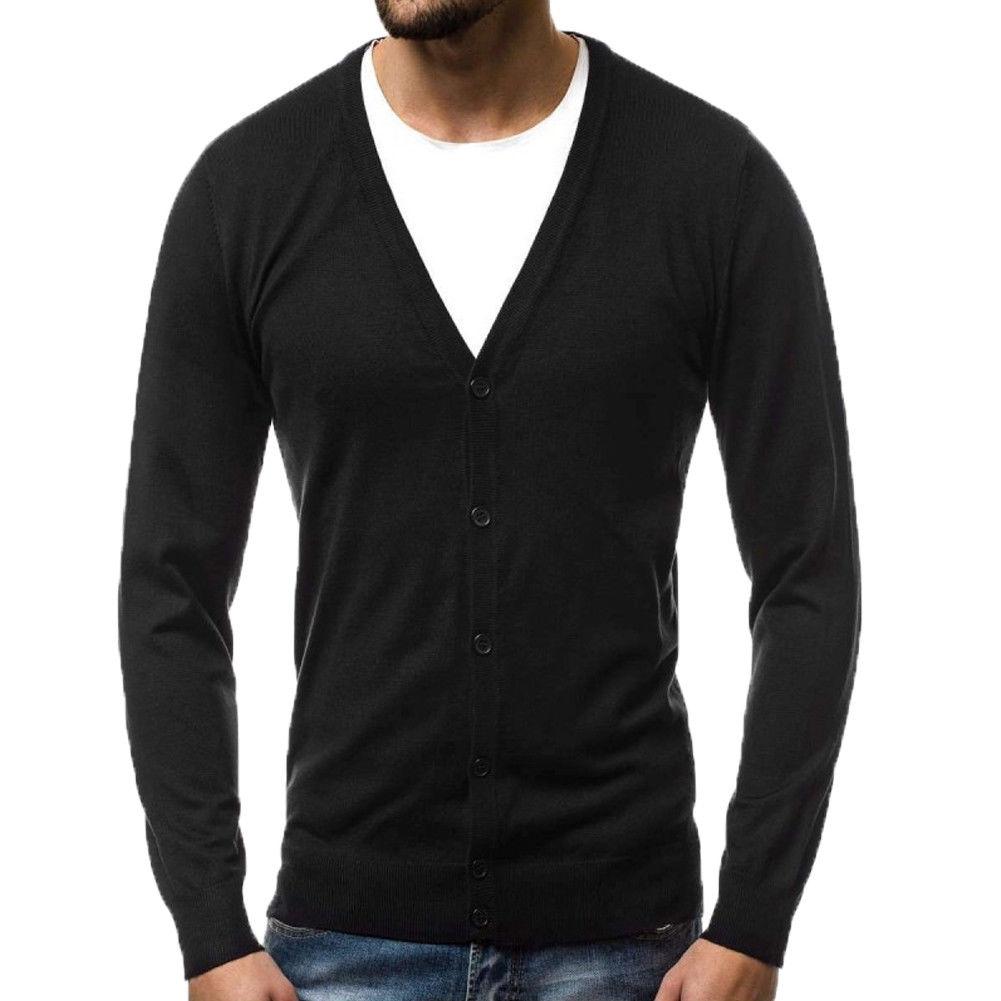 2018 Neue Stil Mode Der Heißen Männer Casual Slim Fit Stricken V-ausschnitt Strickjacke Stilvolle Pullover Mantel Feste Taste Tops
