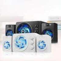 Mini LED Light Speaker SADA D 209 Bass Stereo Speaker for Desktop Computer Phone 3.5mm High Quality Speaker Combination DC 5V