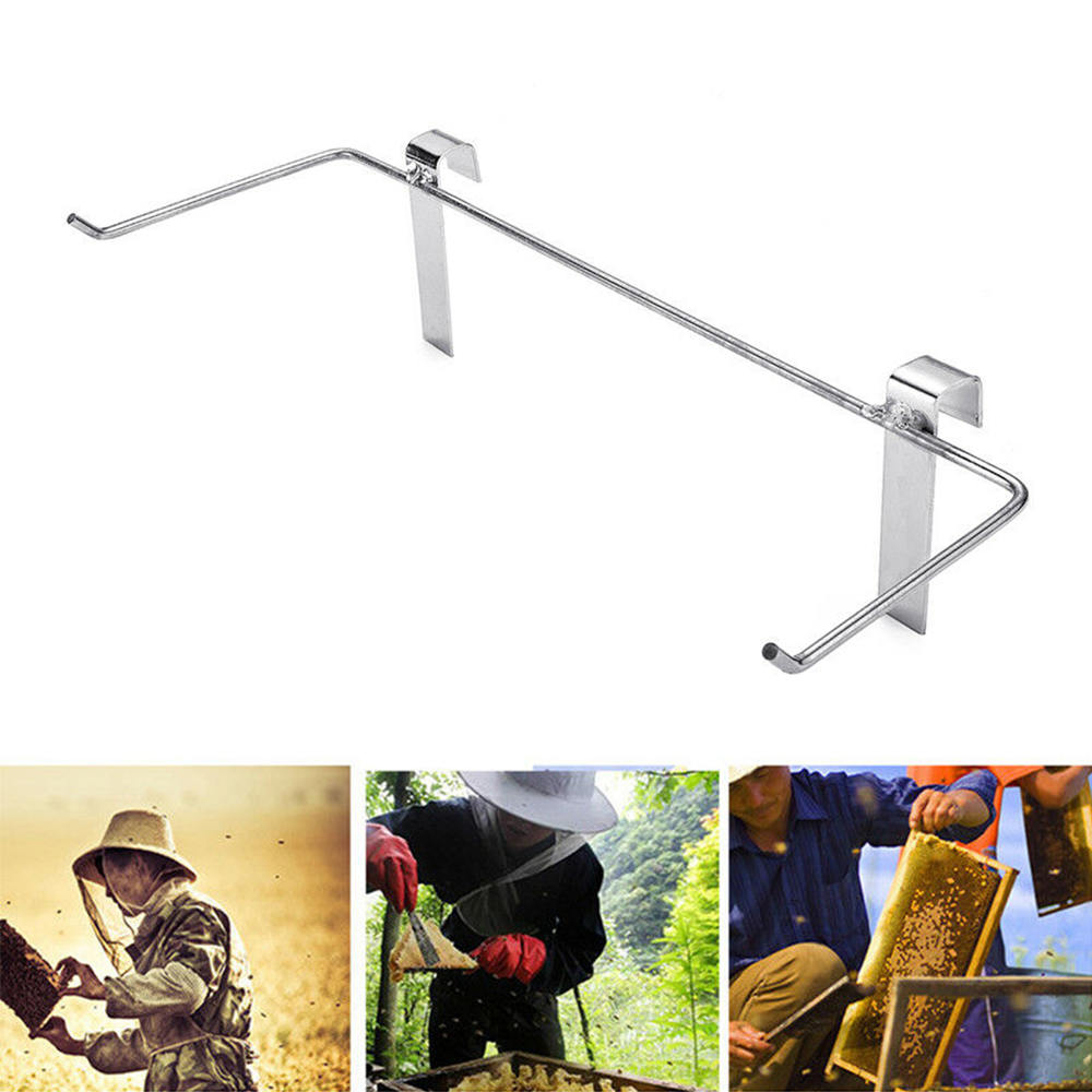 1x Stainless Steel Practical Beekeeping Frame Holder Bee Hive Perch Durable Equipment Kit1x Stainless Steel Practical Beekeeping Frame Holder Bee Hive Perch Durable Equipment Kit