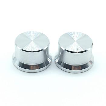 2 sztuk stopu aluminium przełącznik czapki Roatry enkoder pokrętło potencjometru 30x18mm śliwkowy wał typu srebrny tanie i dobre opinie Aluminum Alloy