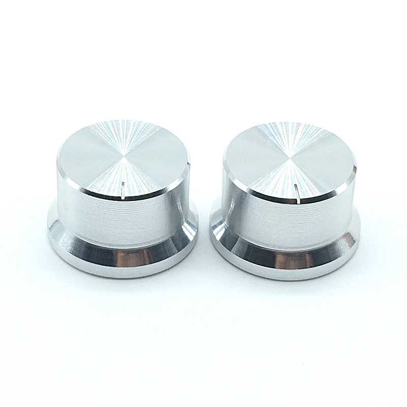 2pcs Aluminum Alloy Switch Caps Roatry Encoder  Potentiometer Knob 30x18mm Plum Shaft Type Silver