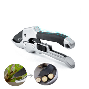 Image 1 - 20 cm 래칫 식물 트림 원예 손 pruner 절단 전단 과수원 가지 치기 secateur 관목 정원 가위 도구 모루 지점