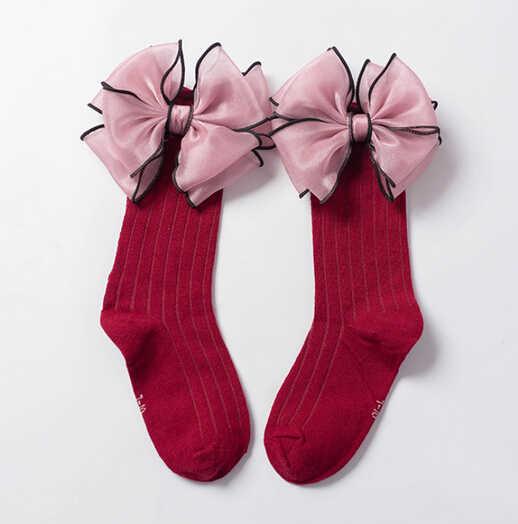 Công chúa Bé Cô Gái Hoa Ren Đầu Gối Cao Stocking Vớ Meia Toddler Trẻ Em Gái Cúi Mềm Romany School Stockings Pantyhose