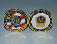 10pcs/lot free shipping New York Police Department Gold Plated Commemorative Challenge Coin Collection