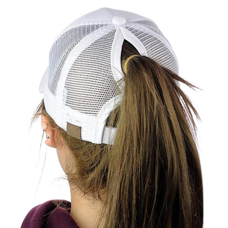 Ponytail Baseball Cap Women Adjust Sport Casual Messy Bun Snapback Mesh Hat Casual Adjustable Sport Caps Drop Shipping 2019 New(China)
