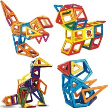 New Magnetic Blocks And Magnetic Construction Toy Construction Set Model Plastic Magnet Educational Toys Children Gift farm animal model toy simulation horse and sheep ducks and geese set kids educational toy for children gift
