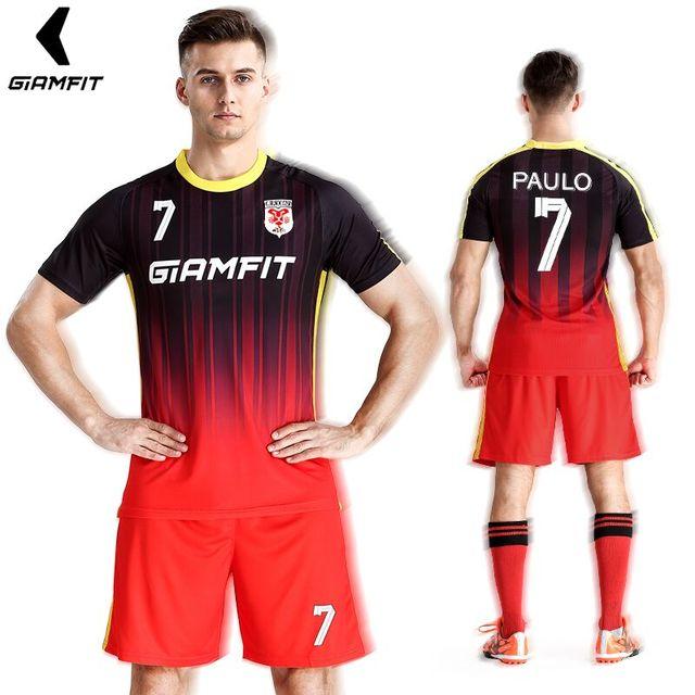 20ce1fd9e ... buy france jersey soccer mens sports suits camisetas futbol training  uniform custom jerseys football kits short ...