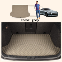 ZHAOYANHUA Custom fit Heightened side car Trunk mats for peugeot 5008 307 508 308 3008 301 2008 207 sw