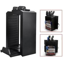 Многофункциональная вертикальная подставка охлаждающий вентилятор с диском для хранения игры башня двойной контроллер зарядное устройство для PS4 Pro тонкий для Xbox One