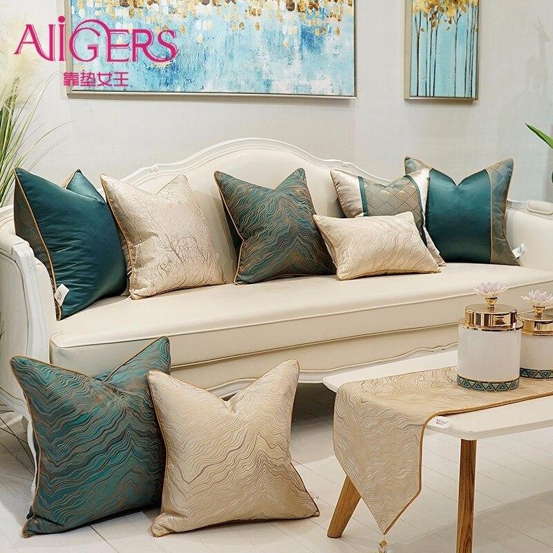 Avigers haute qualité canapé housse de Coussin haute précision Jacquard maison décor Coussin décoratif oreillers maison luxe taies d'oreiller