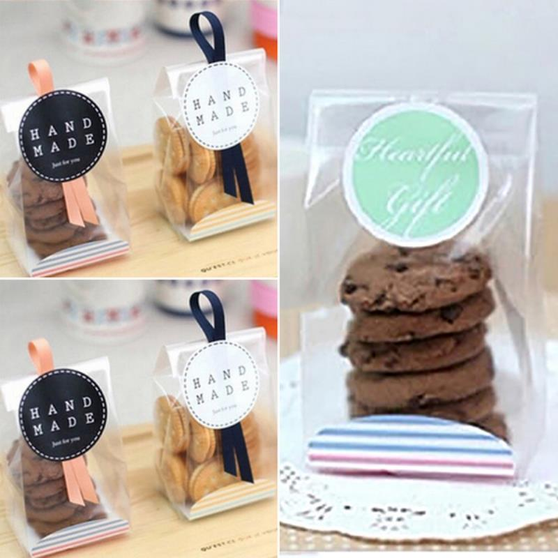 10/20/50/100X Cookies Cellophane With Gusset Wedding Xmas Favor Sweet Party Bags 2018 New