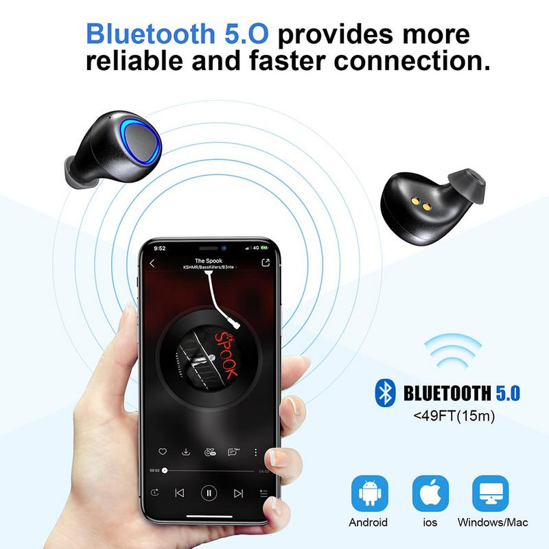 Wireless Charging with Mobile Power Bluetooth Headset Bluetooth 5.0 Sports Wireless Binaural Earphone TWS