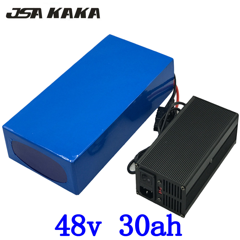 2000W 48V 30AH electric bike battery 48V 30AH ebike battery 48 V Lithium battery pack with 50A BMS and 54.6V charger duty free