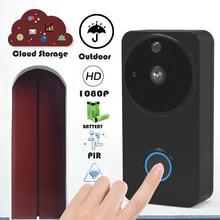 Wireless Doorbell Camera 1080P Home Video Doorbells Wifi Outdoor Cloud Night Vision Battery Door Intercom IP Doorphone цена