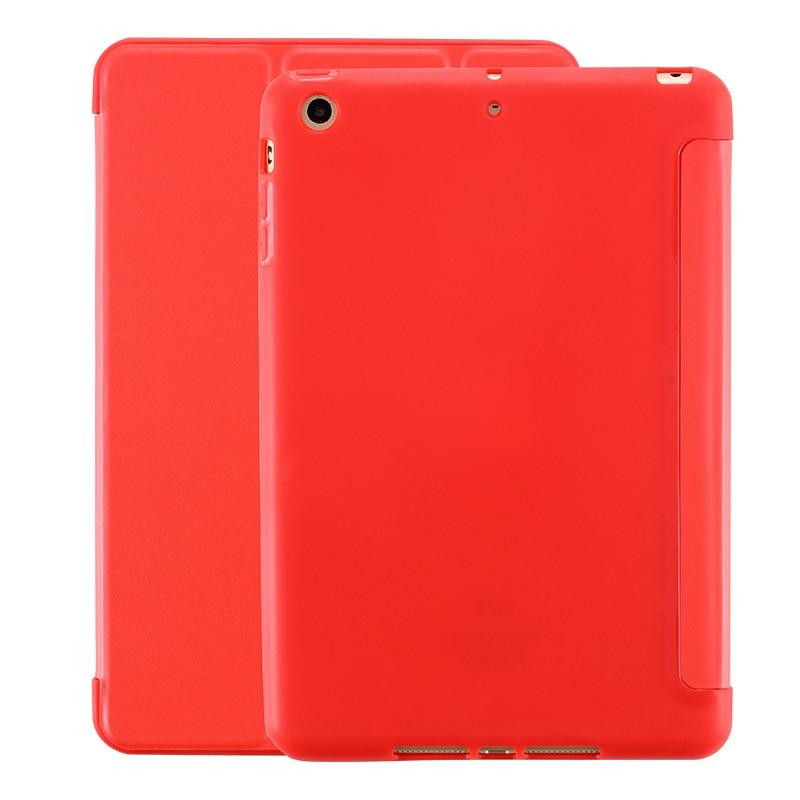 YWEWBJ Case For iPad air2 Soft Back Cover TPU Leather Case For iPad Air 6 PU Cover Leather Flip Cover Soft TPU Back Smart Case