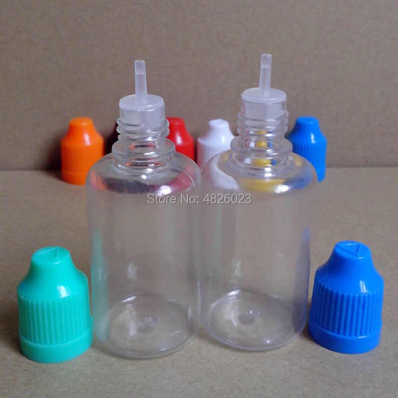 1pcs ขวดพลาสติกใส E Liquid Dropper ขวด 30ml Vial พร้อมเด็ก Proof Cap